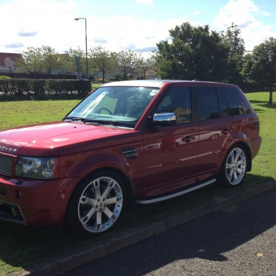 DRM Mobile Valeting Red Range Rover